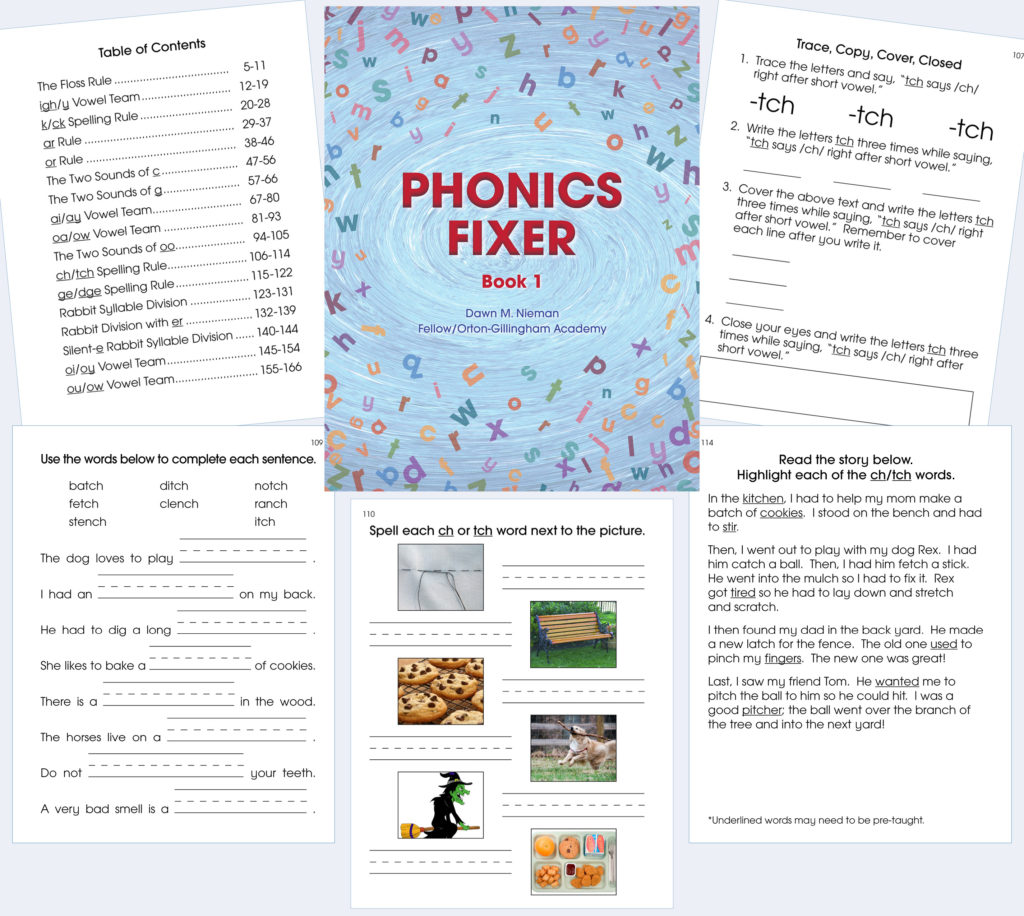 photo of Phonics Fixer book cover
